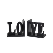 Love Wooden Bookend
