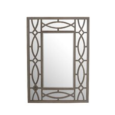 Wooden Bevel Wall Mirror