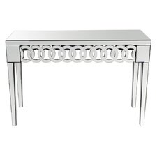 Beveled Mirror Console Table
