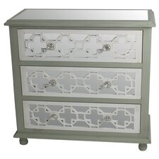 3 Drawer Mirrored Chest