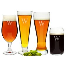 Personalized 4 Piece Specialty Beer Glass Set