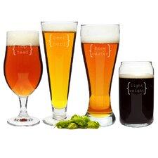 4 Piece Specialty Beer Glass Set
