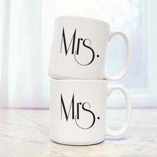 Gatsby Mrs. and Mrs. 20 oz. Coffee Mug (Set of 2)