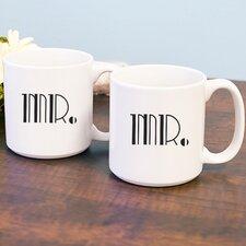 Gatsby Mr. and Mr. 20 oz. Coffee Mug (Set of 2)