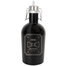 Personalized Stainless Steel Groomsman 64 Oz. Growler