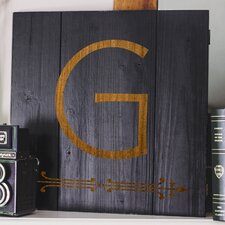 Personalized Black Rustic Wooden Wall Art