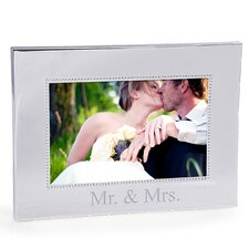 Mr. and Mrs. Beaded Silver Frame