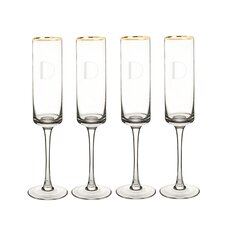 Personalized 4 Piece 8 Oz. Champagne Flute (Set of 4)