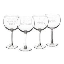 4 Piece 19 oz. Wine Glass Set