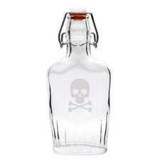 Crossbones Glass Flask Cruet