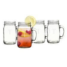 Personalized Old Fashioned Drinking Mason Jar (Set of 4)