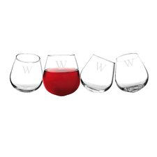 Personalized Wine Tumbler Glass (Set of 4)