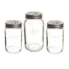 3-Piece Personalized Mason Jar Set