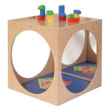 Kids Play Cube Stool with Mirror