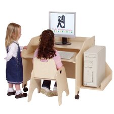 """29"""" W Mobile Computer Station with Keyboard Shelf"""