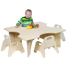 "Infant-Toddler 36"" Four Cutout Activity Table"