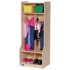 1 Tier 2-Section Seat tep Locker