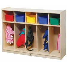 1 Tier 5-Section Toddler Locker