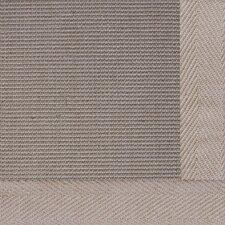 Jute Textured Boucle Medium Bordered Natural Outdoor Area Rug