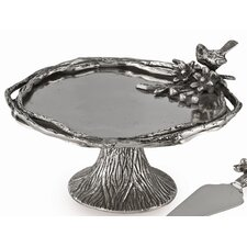 Bird and Branches Footed Cake Stand