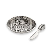 2 Piece Football Dip Dish and Spreader Set