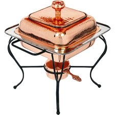 Copper 2 Qt. Square Plated Chafing Dish