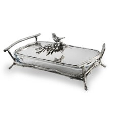 Bird and Branches Rectangular Baker/Server with Lid