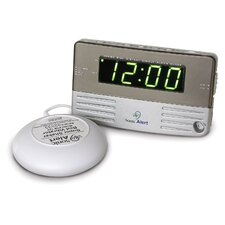 Sonic Boom Bedside/Travel Vibrating Alarm Clock