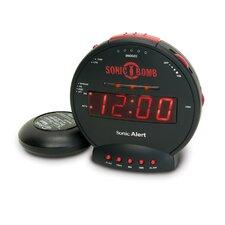 Sonic Bomb Alarm Clock with Flashing Lights