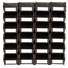 LocBin Stackable Hanging Interlocking Bin (Set of 24)