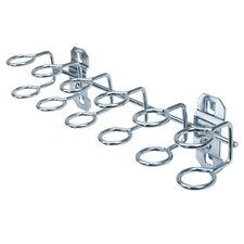 LocHook 9 In. W with 3/4 In. I.D. Zinc Plated Steel Multi-Ring Tool Holder for LocBoard, 2 Pack