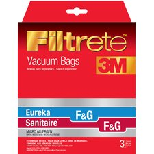 Size F and G Filtrete Vacuum Bags (Set of 3)