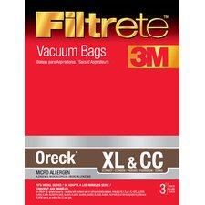 Oreck Filtrete XL and CC Vacuum Bag (Set of 3)