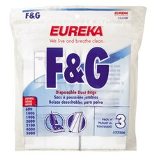 F and G Vacuum Cleaner Upright Bag (Set of 6)