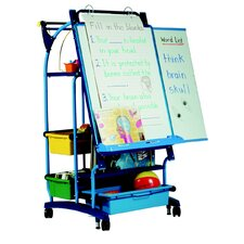 Royal Standard Inspiration Station Free-Standing Whiteboard, 3' H x 3' W