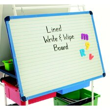 Magnetic Double Sided Dry Erase Free-Standing Whiteboard, 2' H x 3' W