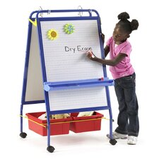 Folding Marker Tray Magnetic Casters Board Easel