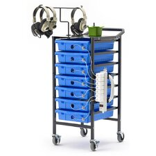 Tech Tub 7-Compartment Tablet Storage and Charging Cart