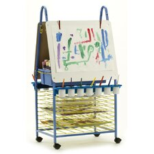 Marker Tray Double Sided Adjustable Casters Board Easel