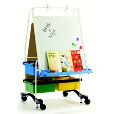 Marker Tray Magnetic Double Sided Casters Board Easel