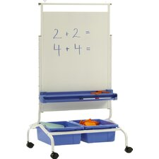 Deluxe Free-Standing 4' H x 2' W Whiteboard