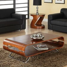 Curve Coffee Table with Magazine Rack