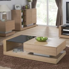 Cube Coffee Table with Magazine Rack