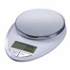 Precision Pro Digital Kitchen Scale in White / Chrome