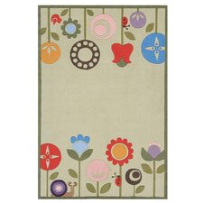 Whimsy Grass Ivory Area Rug