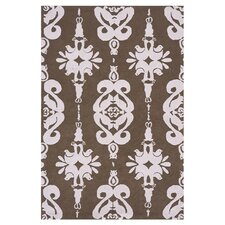 Classic Brown/Soft Pink Area Rug