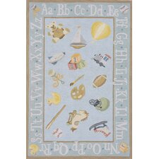 Classic Baby Blue Area Rug