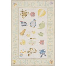 Classic Pale Yellow Area Rug