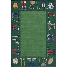 Whimsy Grass Green Area Rug II