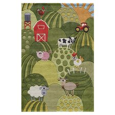 Whimsy Grass Green Area Rug